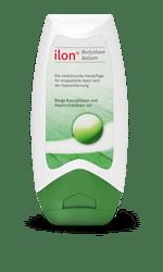ilon Bodyshave Balsam: Für strapazierte Haut nach der Haarentfernung. Beugt Rasurpickeln und Hautirritationen vor.