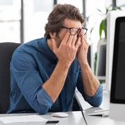 Stress als ein Grund von Lippenherpes